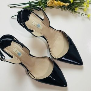 Boden Patent Leather Slingback Heels Pointed Toe 8